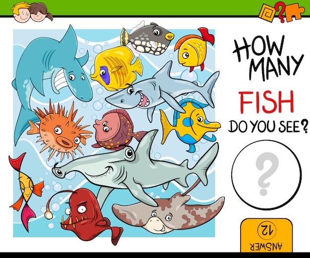 Conteggio del pesce in età prescolare