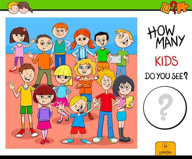 Conteggio di attività educative per bambini