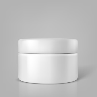 Contenitore cosmetico in bianco di vettore per crema