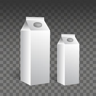 Contenitore del latte in carta