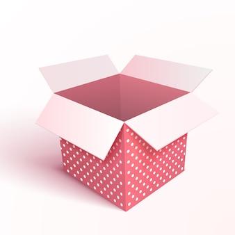 Contenitore di regalo aperto isolato. 3d