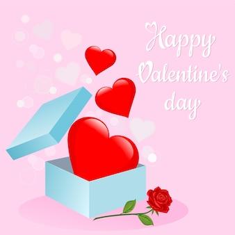 Contenitore di regalo di san valentino