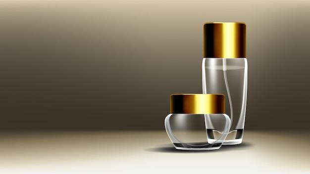 Contenitore in vetro cosmetico