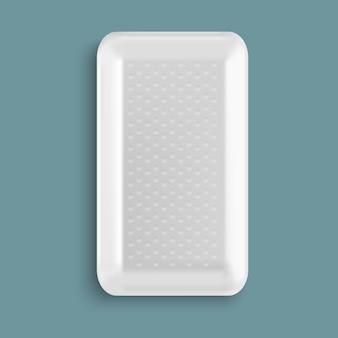 Contenitore per alimenti in plastica bianco vuoto
