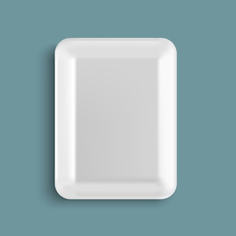 Contenitore per alimenti in plastica vuoto bianco
