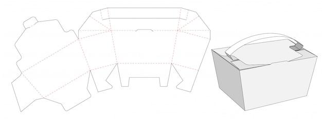 Contenitore per alimenti take away box modello tagliato design
