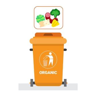 Contenitore per rifiuti per rifiuti organici