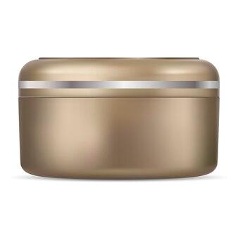 Contenitore per vasetti di crema d'oro.