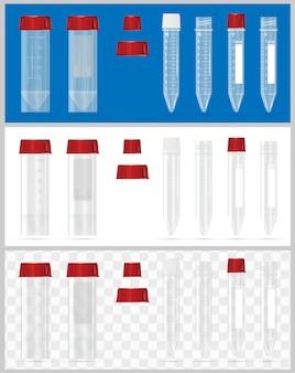 Contenitori sterili per analisi.