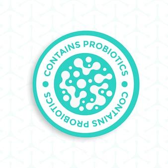 Contiene il design dell'etichetta dei probiotici