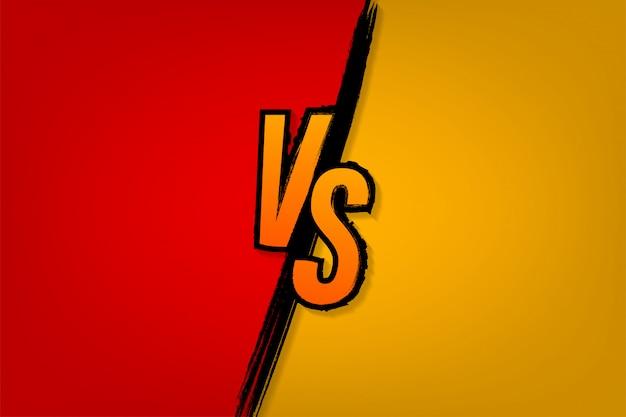 Contro il logo contro le lettere per lo sport e la competizione di combattimento battaglia contro partita, concetto di gioco competitivo