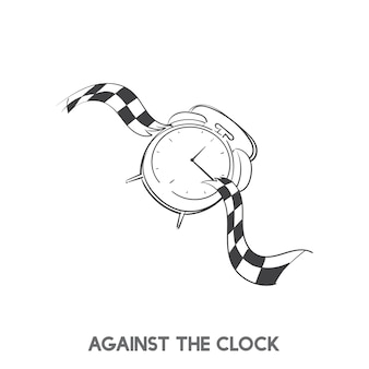 Contro il vettore di idioma dell'orologio