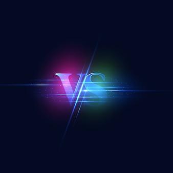 Contro lo schermo. moderno contro sfondo con stile di lusso. sfida la composizione con effetto neon.