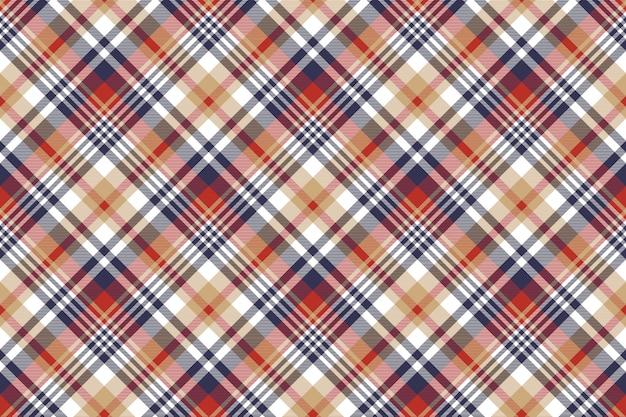 Controlla il classico motivo scozzese senza cuciture