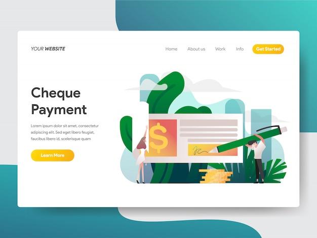 Controlla il pagamento per la pagina del sito web