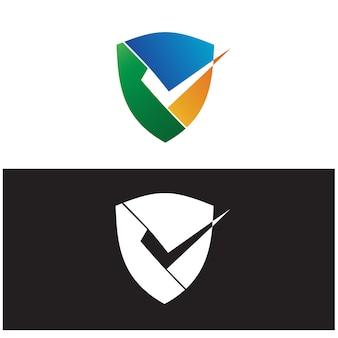Controllare in shield logo vector