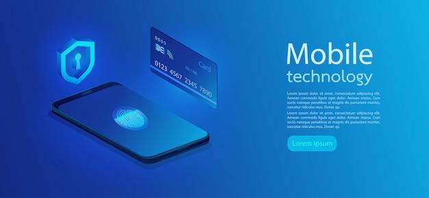 Controllo della carta di credito e dati di accesso al software come riservati. isometrico