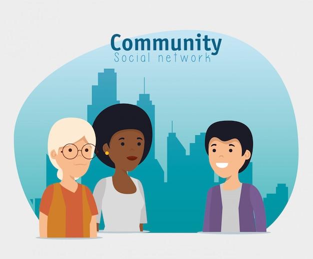 Conversazione di servizio di cooperazione di amicizia della gente