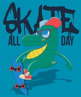 Cool dinosauro skateboard