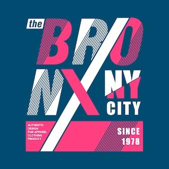 Cool e moderno il grafico della città bronx
