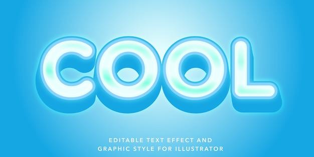 Cool effetto di testo modificabile blu per illustrator