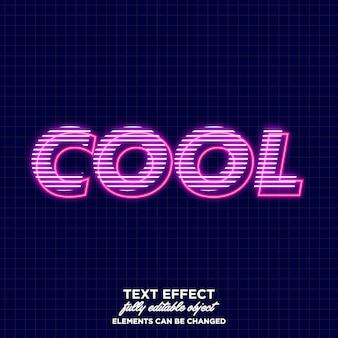 Cool effetto testo incandescente