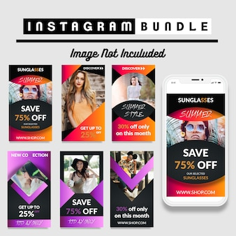 Cool fashion story template per instagram