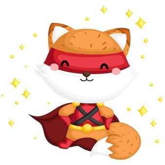 Cool fox superhero