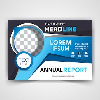 Copertina blu della relazione annuale