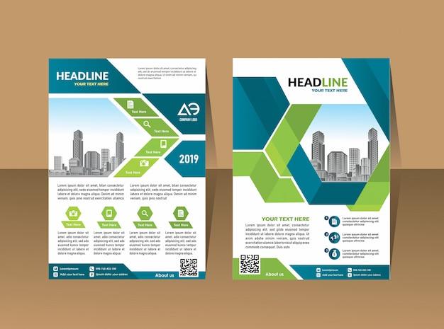 Copertina brochure flyer layout modello di business report annuale