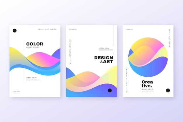 Copertina colorata astratta