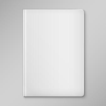 Copertina del libro bianco bianco isolato.