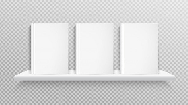 Copertina del libro bianco, collocato sullo scaffale per la progettazione.