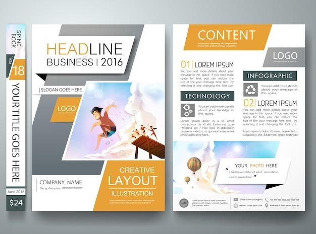 Copertina del libro portfolio grigio nella progettazione del layout