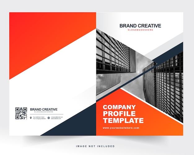 Copertina del profilo aziendale e copertina posteriore