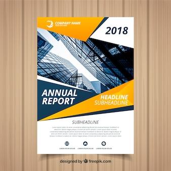 Copertina del rapporto annuale creativo con immagine