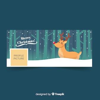 Copertina di facebook per il design di natale
