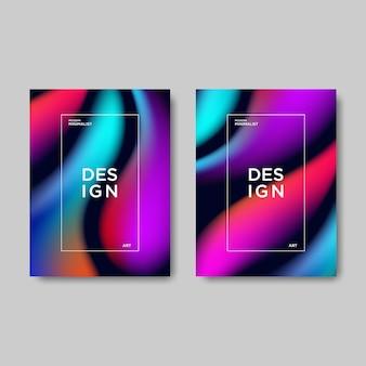 Copertina di libro di gradiente astratto moderno.