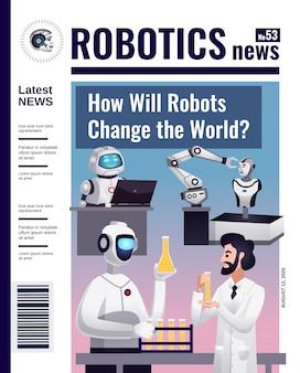 Copertina di una rivista di robotica