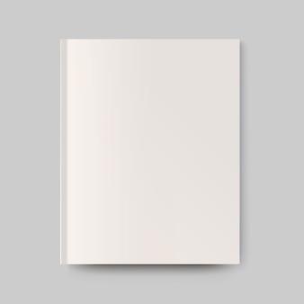 Copertina di una rivista vuota. oggetto isolato per design e branding