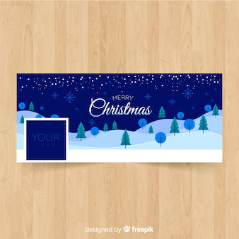 Copertina facebook di christmas landscape design
