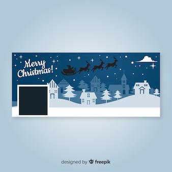 Copertina facebook di christmas landscape design