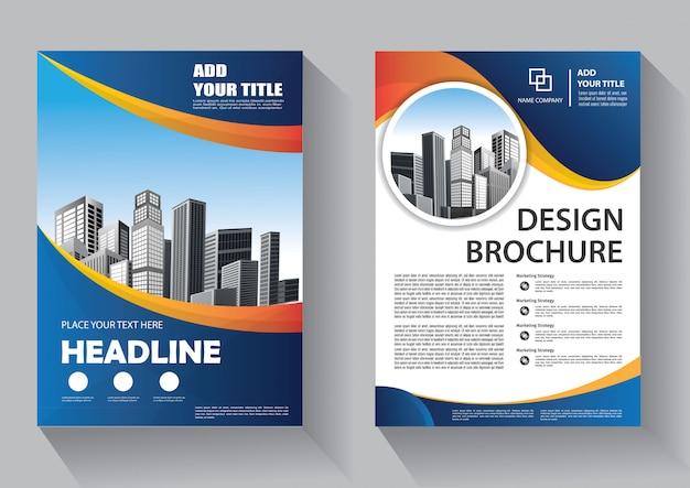 Copertina flyer e modello di business brochure per la relazione annuale