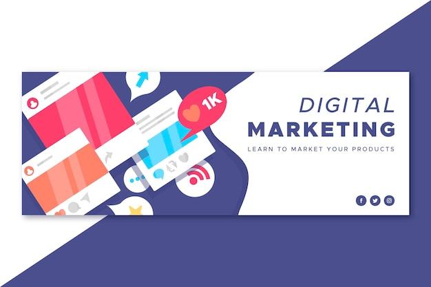 Copertina marketing di facebook