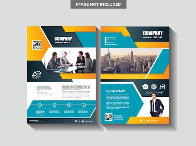 Copertina poster a4 catalogo libro brochure volantino layout relazione annuale modello di business