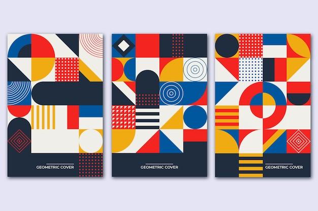 Copertina vintage colorata per la raccolta di libri