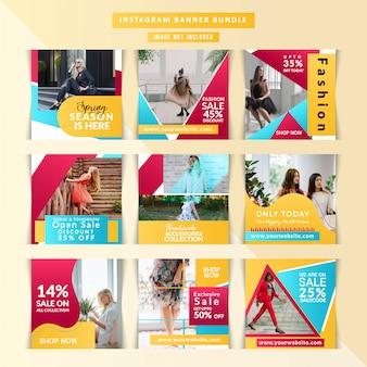 Copertine di instagram di marketing aziendale