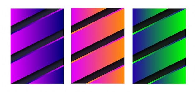 Copertura astratta di disegno vettoriale con strisce. illustrazione vettoriale colori vibranti