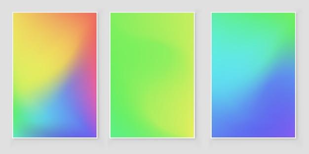 Copertura astratta gradiente di colori vivaci.