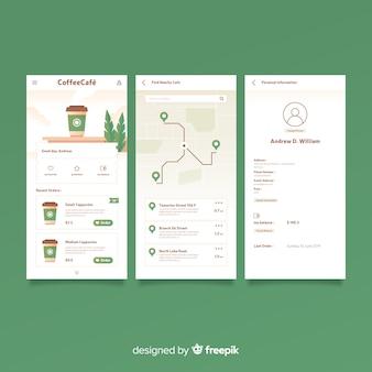 Copertura dell'app mobile piatta